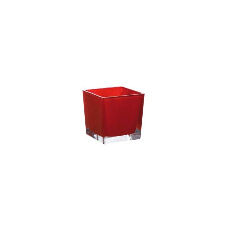 Cube 10x10x10cm Rouge